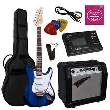 E-Gitarre ST5 dunkelblau, Set - Stimmgerät -Verstärker GW15,Tasche,Band,Kabel