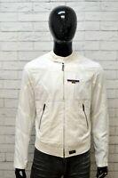 Giubbotto Bianco Giacca Uomo ARMANI JEANS Taglia L Giubbino Cappotto Jacket Man