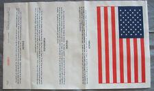 USA - BLOOD CHIT SURVIE (TISSU IMPRIME POUR BLOUSON AVIATEUR daté 1962)