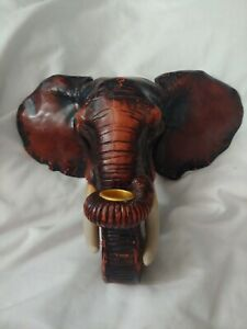 Wall Mounted Taper Candle Holder Sconce Safari Elephant Hallway Candelabra Decor