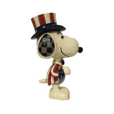 Peanuts by Jim Shore Mini Snoopy Patriotic 3.75 Inches Tall  Figurine 6005951