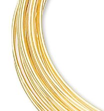 """1 Ounce (70 Loops) Gold Plated 2"""" Round Memory Wire Bracelets"""