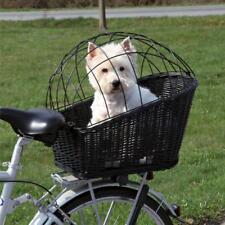 Bike Rear Mounted Bicycle Wicker Basket Pet Dog Cat Safe Travel Wire Lid