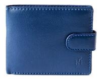 Starhide Men RFID Safe Blocking Real Nappa Leather Passcase Wallet 710 Blue
