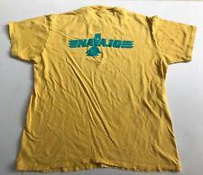 Vintage Native American Navajo Logo T-Shirt Men's L Single Stitch Yellow USA