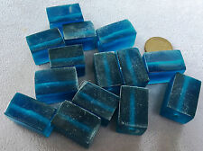 "16"" Strand Beadsmith TRANSLUCENT RESIN BEADS-RECTANGLE CUBE 23mmx15X15 DARK TEAL"