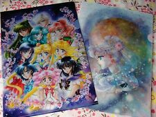 Sailor Moon Exhibition Clear File Set of 2 Original Limited Japan Anime Serenity