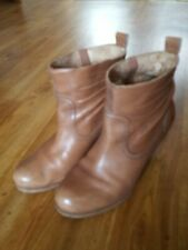 Timberland Brown Tan Leather Ankle Chelsea Boots - Size 7