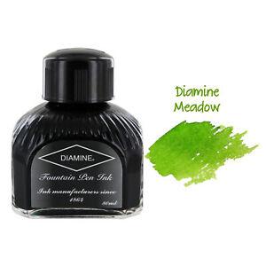 Diamine Fountain Pen Bottled Ink, 80ml - Meadow (Green)