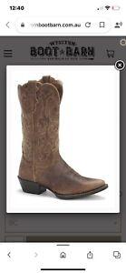 Justin Boots - Style L2561 Ladies Tan Puma Western Boots Size 8.5C. rrp $329