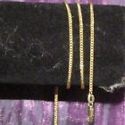 New 18K Gold Filled 2mm Curb Chain Necklace Lobster Clasp