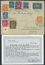 Dt. Reich 80 + 160 PF. obreros rellenarán gofres de justificante 1923 Rothenfelde hallazgo (s12705