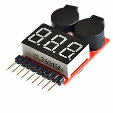 1S-8S 2in1 Lipo BEEPER Battery LED Voltage Meter Tester Alarm Spannungstester