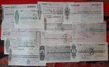 Peru Chile collection lot 12 comercial bill of exchange Pacific War emitted 1881