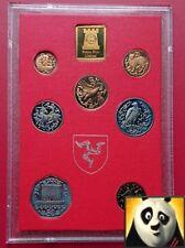 1980 la Isla de Man prueba de conjunto Colección de monedas con escasa Viking 50p DD Die marca