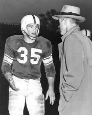 1952 Oklahoma Sooners BILLY VESSELS & BUD WILKINSON 8x10 Photo Heisman Trophy
