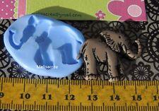 Moule Silicone éléphant n°1 pour fimo, résine, plâtre, porcelaine froide