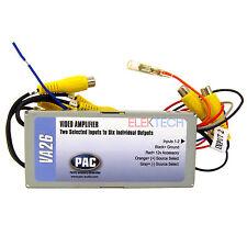 Pac Va26 Video Amplifier & Switcher Unit Splitter 2 Rca Inputs to 6 Rca Outputs