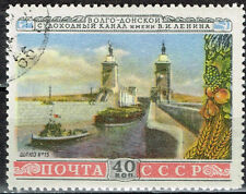 Rusia Lenin Volga – No Canal Lock 9 Sello 1952