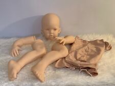 Tibby Sitting Reborn Unpainted Doll Kit With Cloth Body.