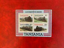 TANZANIA 1985 MNH MINISHEET LOCOMOTIVE TRAINS RAILWAY
