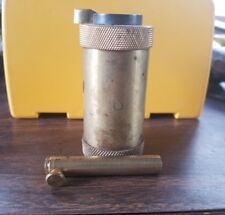 SMALL BRASS BLACK POWDER FLASK MEASURE REVOLVER PISTOL CANNONS MUZZLELOADER