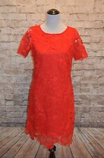 Modcloth Thing of Ruby Dress NWOT Shift lace 4 Donna Ricco scallop hem Valentine