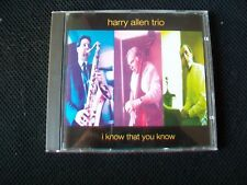 I Know That You Know by the Harry Allen Trio (CD, 1992, Mastermix)