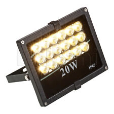 20W SMD Outdoor LED Flood Light 3500K Warm White IP65 Black Waterproof