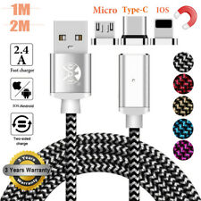 Magnetic Micro USB Type C Lightning Fast Charger Cable For iPhone 8 7 6s Android