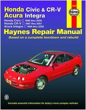 HAYNES REPAIR MANUAL 42025 HONDA CIVIC '96-'00 HONDA CR-V '97-'01 ACURA INTEGRA