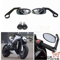 Oval Shape Rear View Mirror Bar End Mirror For Yamaha TDM900 FZ07 T-MAX 530 MT09