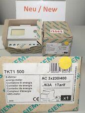 siemens 7KT1500 E-Zähler energy meter LCD-Display Direktanschluss 63A Wirkenergi