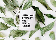 Surely Not Everybody Was Kung Fu Fighting  mug - Funny Ceramic Mug Gift