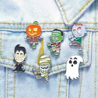 Halloween Enamel Ghost Pumpkin Funny Lapel pins Clothes Badges Brooches Gifts
