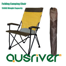 Outdoor Folding Camping Picnic Beach Chair Arm Chair 150KG Capacity High Back