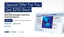 American Express$250 Bonus Cashback Refer a Friend Offer