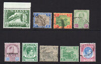 Malaya States 9 Stamps Mounted Mint and Used (6575)
