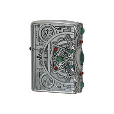 ZIPPO Lighter Indian spirit Cross with Turquoise Best Buy Gift New from Japan