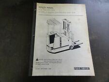 Prime-Mover RC-30 RC-40 Electric Rider Truck Repair Manual  1989