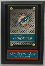 Die Hard Fan Miami Dolphins Card Wall Plaque With Easel For Your Man Cave