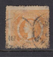 Australia - New South Wales 1860 8d Eight Pence Yellow-orange SG 167b used