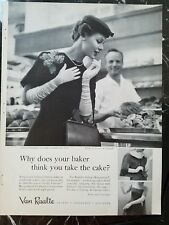 1957 Women's Van Raalte white long gloves your Baker vintage ad