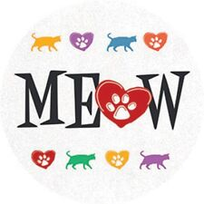 CAR COASTER-Set of 2 Absorbent Stone Coasters for Cup Holders-MEOW