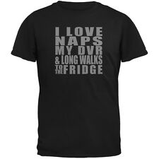 Naps DVR Fridge Funny Black Adult T-Shirt