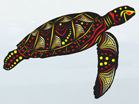 Turtle Aboriginal Sticker art Fish Vinyl cut Car boat Australian made & design