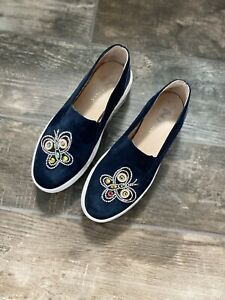 Suede Platform Slip On Sneaker Shoe Size 39