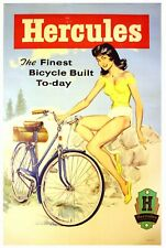 Hercules Finest British bicycle cycling advert poster wall pictures