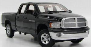 2002 Dodge Ram 1500 4X4 Black Pick Up Truck 1/18 Motormax Full Openings HTF !