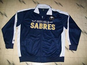 BUFFALO SABRES NHL ZIPPER FRONT JACKET MORE LIKE A TRACK SUIT TOP EXTRA LARGE,54